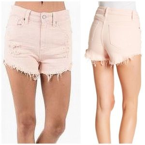 Eunina Lulu High Rise Cutoff Shortie Shorts